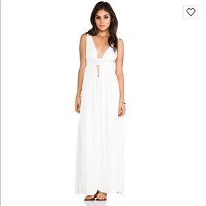 Indah Anjeli Empire Maxi Dress White Size Medium